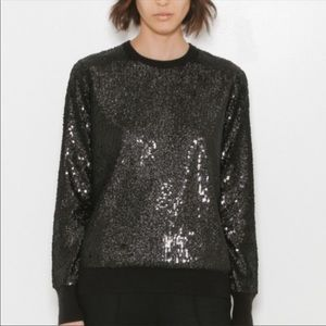 Equipment Femme Black Shane Sequin Sweater